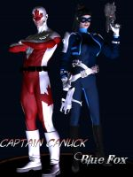 Capt Canuck and Blue Fox redo by ProphetX