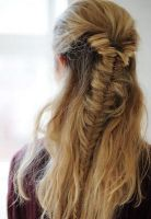Half Up Fishtail Braid by stacytm