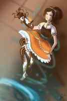Chell as Steampunk Lolita by DymasyaSilver