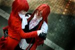 Madam Red + Grell Cosplay by Cytanin