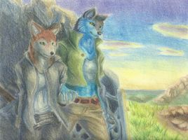 Cross and Kagami in pastels by Aki-rain