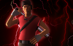 TF2: Red Scout Poster Attempt 2 by DeathsFugitive