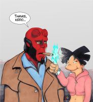 Hellboy vs. Amy Wong by Gulliver63