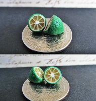Blood Limes (polymer clay charms) by damnheliotrope