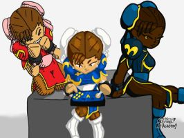 The Chun-li Trio by TheToonDevil