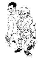 Doyle and Abby bw by Yardley