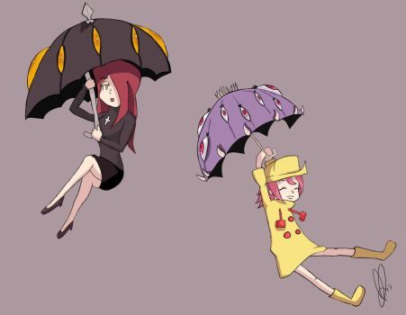 Parasoul and Umbrella by honey-tree