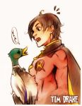 Tim Drake with Duck by XMenouX