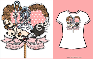 Bo-Peep Sheep Tee by bezzalair