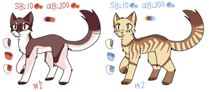 (closed) 2 adoptables AUCTION by crykov