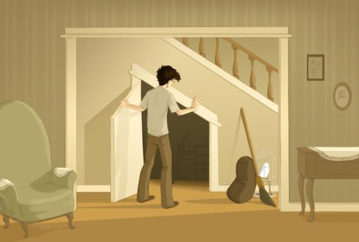 The Cupboard Under The Stairs by Pen-umbra