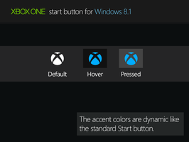 Xbox One Start Button for Windows 8.1 by RexAdde
