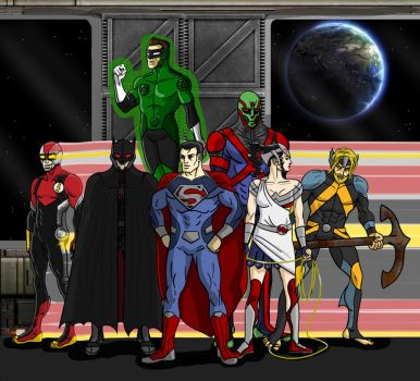 Justice League Redesign by toekneearrows