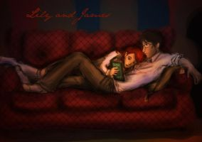 Lily y James in the Commonroom by nutella-frogs