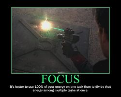 Focus Motivational Poster by QuantumInnovator
