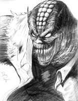 Killer Croc face by DougSQ