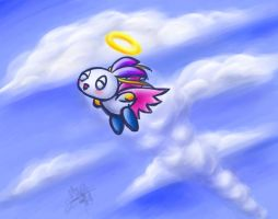 Flying-Type Hero Chao YAY by Moppy