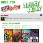 New York Comic Con 2016 Artist Alley info. by DarioBrizuelaArtwork