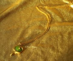 Kokiri Emerald Pendant Necklace 3DS Zelda inspired by TorresDesigns