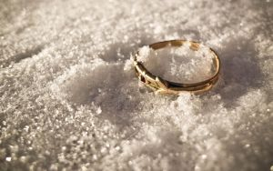 A ring in snow by kay17ryan