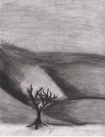The Lonley Tree Under the Hill *Charcoal Gift* by FaineSpades