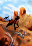 Hare Chase by windwolf55x5