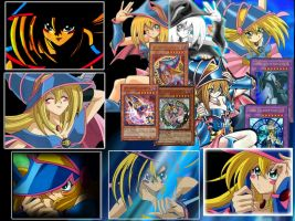 Dark Magician Girl collage by HimekoIvalice
