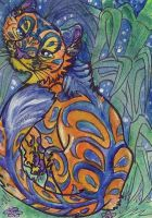 Jolly Jungle Tiger Aceo by Eviecats