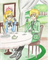 [APH] Tea Time With Alice and Arthur by WinryLove