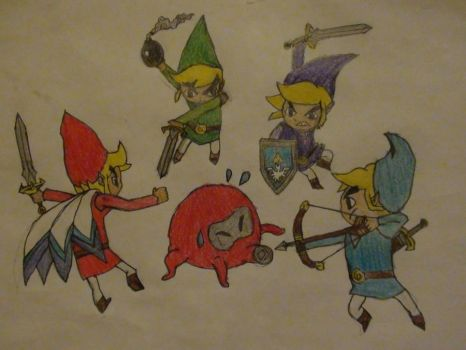 Toon Links-Four Swords by GamingArtist-521