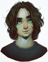Portrait commission - Guillaume by Amethylia