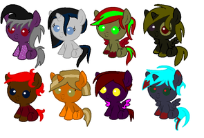 Halloween Adopts (closed) by 7cazzyo7