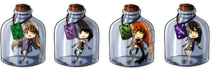 [Bottle] Commission pack 1 by GazeRei
