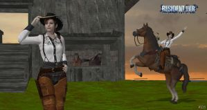 Claire Redfield cowgirl Re DC- costume by ChrisTalyus