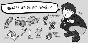 What is inside my bag..? by daevakun