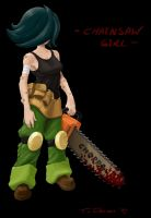 Chainsaw Girl by Twanneman
