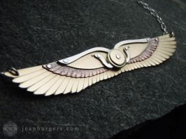Egyptian Winged Disk Pendant by jeanburgers
