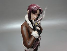 Revy Paperfigure Close-up by BRSpidey