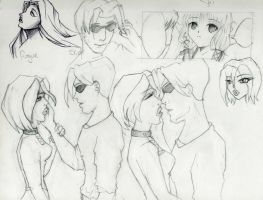 Rogue and Scott Sketches (and others) by aidasteel