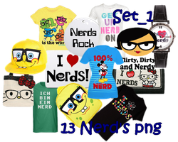 13 Nerd's Png  Set_1 by JEricaM