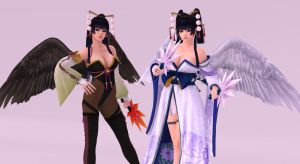 Notengu Costume and Default White by fateheartnet