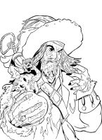 Barbossa Inks by KileyBeecher