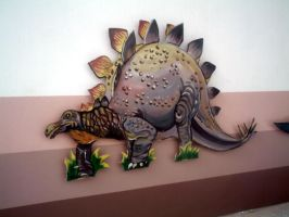 Stegosaurus '-simple-' by AvReY