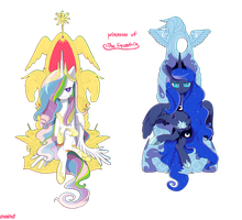 Princesses Of Equestria by Cosmichat