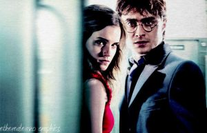 Harry and Hermione by etherealemzo