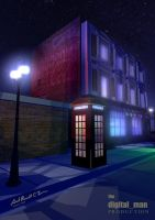 London Phone Booth and Pub by Questworld