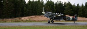 Spitfire taking off by xPedrox90