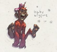 Baby Bigfoot by KeanKennedy