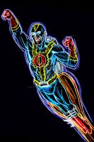 Captain O neon by AlanSchell