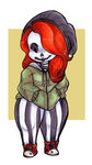 Day 3: Striped Skelebabe by CritterKat